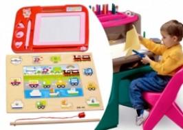 Hà Nội - Cầu Giấy: Giảm giá 29% - Combo 1 bảng viết từ tự xóa + đồ chơi gỗ
