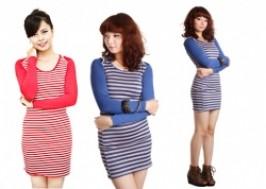 Hà Nội - Hai Bà Trưng: Giảm giá 41% - Váy kẻ dài tay duyên dáng