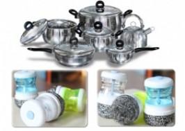 Hà Nội - Cầu Giấy: Giảm giá 38% - Combo 02 dụng cụ chùi rửa xoong chảo