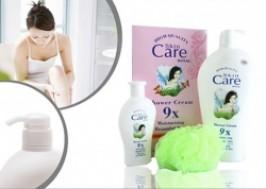 TP. HCM - Tân Phú: Giảm giá 48% - Combo 02 chai sữa tắm dê Skin Care và 01 bông tắm