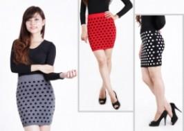 Hà Nội - Hoàng Mai: Giảm giá 39% - Chân váy len chấm bi
