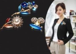 Hà Nội - Thanh Xuân: Giảm giá 46% - Trang sức cài áo, cài khăn đính hạt đá nhiều kiểu