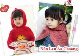 TP. HCM - Quận 1: Giảm giá 50% - Nón len áo choàng cho bé