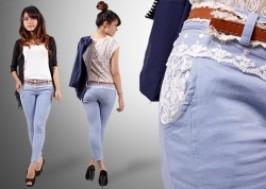 Hà Nội - Thanh Xuân: Giảm giá 49% - Quần jeans nữ co giãn + thắt lưng
