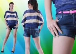 Cuc Re - TP. HCM - Tan Binh: Giam gia 34% - Quan short jean nu tre trung