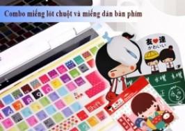TP. HCM - Tân Bình: Giảm giá 46% - Combo miếng lót chuột và miếng dán bàn phím