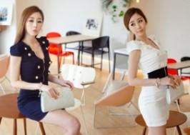 TP. HCM - Tân Bình: Giảm giá 45% - Đầm ôm phối dây kéo thanh lịch