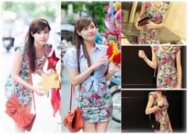 TP. HCM - Tân Bình: Giảm giá 32% - Đầm hoa ôm xuống phố