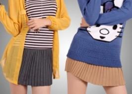 Hà Nội - Hai Bà Trưng: Giảm giá 43% - Chân váy len xếp ly Hàn Quốc