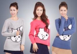 Hà Nội - Hai Bà Trưng: Giảm giá 48% - Áo len dáng dài Hello Kitty đáng yêu