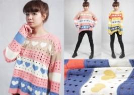 Hà Nội - Cầu Giấy: Giảm giá 54% - Áo len dày form dài hình tim siêu cute