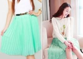 TP. HCM - Tân Bình: Giảm giá 53% - Váy Midi xếp li thời trang