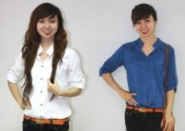 TP. HCM - Tân Bình: Giảm giá 43% - Áo sơ mi nữ cổ trụ