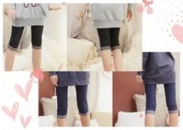 Hà Nội - Hai Bà Trưng: Giảm giá 43% - Quần legging lửng giả jean gấp gấu sành điệu