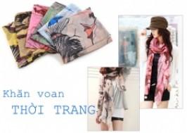 Hà Nội - Hai Bà Trưng: Giảm giá 42% - Khăn Voan HM khổ rộng thời trang