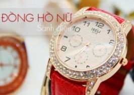 Hà Nội - Cầu Giấy: Giảm giá 79% - Đồng hồ dây da cao cấp, mặt đính đá sành điệu