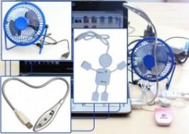 TP. HCM - Tân Bình: Giảm giá 45% - Bộ 3 đèn led, quạt, Hub 4 cổng USB