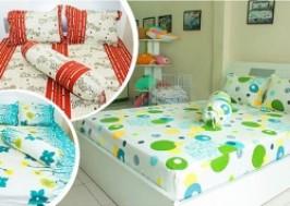TP. HCM - Tân Bình: Giảm giá 43% - Bộ drap giường và áo gối