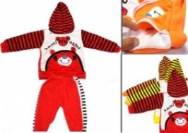 Hà Nội - Hai Bà Trưng: Giảm giá 47% - Bộ quần áo nỉ liền mũ đáng yêu cho bé