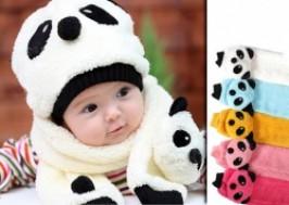 Hà Nội - Hai Bà Trưng: Giảm giá 43% - Bộ khăn mũ hình gấu trúc