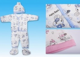 Hà Nội - Hai Bà Trưng: Giảm giá 43% - Bộ quần áo bông kèm mũ và bao chân cho bé