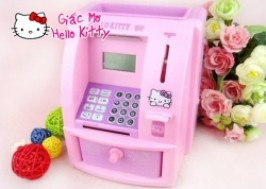 TP. HCM - Tân Bình: Giảm giá 40% - Máy cất tiền + rút tiền Hello Kitty