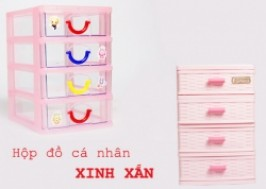 Hà Nội - Hai Bà Trưng: Giảm giá 53% - Hộp đồ cá nhân 4 ngăn kéo xinh xắn, tiện dụng