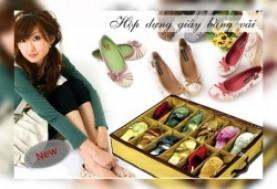 Hà Nội - Hai Bà Trưng: Giảm giá 56% - Tủ đựng giầy dép 12 ngăn bằng vải