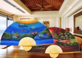 TP. HCM - Tân Bình: Giảm giá 43% - Tranh quạt sơn dầu phong thủy