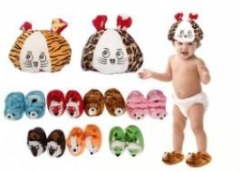Hà Nội - Hai Bà Trưng: Giảm giá 47% - Combo mũ và giầy hình thú vô cùng ấm áp cho bé yêu