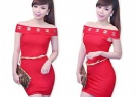 TP. HCM - Tân Bình: Giảm giá 26% - Đầm body trễ vai tag Chanel