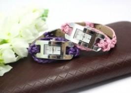 Hà Nội - Hai Bà Trưng: Giảm giá 50% - Đồng hồ mặt hình chữ nhật phong cách dây xoắn quấn 2 vòng