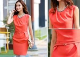 TP. HCM - Tân Bình: Giảm giá 54% - Đầm công sở không tay cách điệu