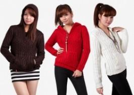 Hà Nội - Cầu Giấy: Giảm giá 60% - Áo len mũ cá tính