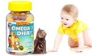 Kẹo dẻo hình cá L'il Critters (Hoa Kỳ) - bổ sung Omega-3 cho trẻ