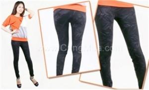 Quần legging giả Jeans: Thiết kế đẹp,không khác quần jean thật