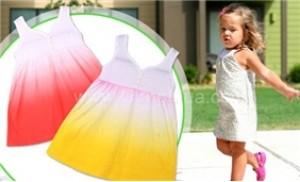 Combo 02 đầm baby Gap kiểu dáng xòe xinh xắn cho bé từ 1 - 4 tuổi