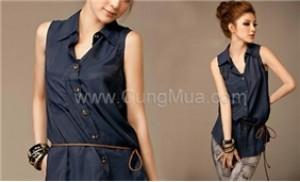 Thật phong cách và cá tính với áo voan sát nách kèm thắt lưng - 2 - Thời Trang và Phụ Kiện - Thời Trang và Phụ Kiện