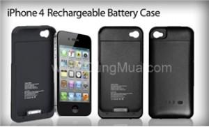 Charge kèm ốp lưng iPhone 4 thiết kế mỏng, nhẹ, màu sắc trang nhã