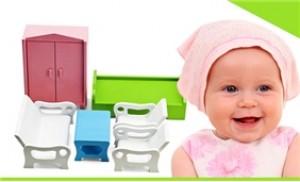 Bộ bàn ghế, giường tủ mini giúp bé nhận biết các vật dụng xung quanh