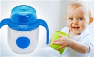 Ca uống nước 180ml Dr.Brown's van cứng, chống đổ, chỉ chảy khi bé mút
