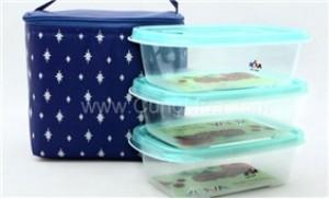Bộ 03 Hộp nhựa Hàn Quốc Kova (520ml) + Túi giữ nhiệt