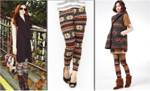 Rực rỡ sắc màu thổ cẩm cùng quần legging.Tại Cungmua.com