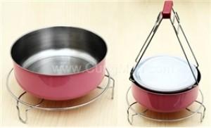 Combo dụng cụ kẹp chống nóng chén, tô và đế nồi, chất liệu inox 100%