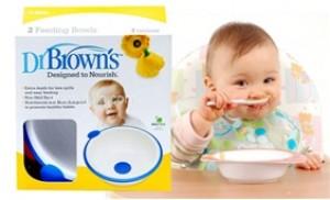 Bộ 2 chén nhựa cao cấp dành cho bé ở độ tuổi ăn dặm Dr.Brown's