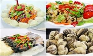 Set ăn hải sản và lẩu hải sản (04 - 06 người) tại NH Hoàng Lan