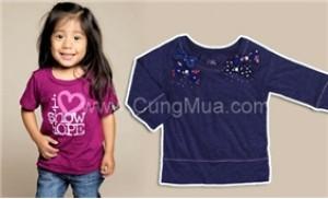 Cho con gái cưng thêm xinh và đáng yêu với áo thun chất liệu cao cấp