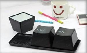 Bộ ly cốc bàn phím ctrl + alt + del: Thiết kế ấn tượng, độc đáo