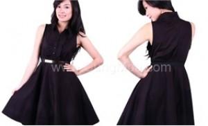 Đầm Blackert cổ áo sơ mi, chất liệu kate - Thời trang mới cho bạn gái