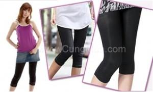 Combo 02 quần legging lửng xuất khẩu-Có 3 size cho bạn lựa chọn